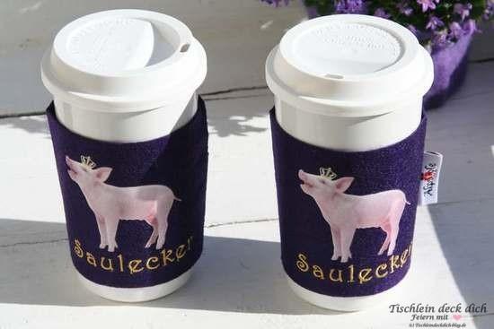 Kaffeebecher Coffee-to-go Saulecker für Schweinchen-Fans