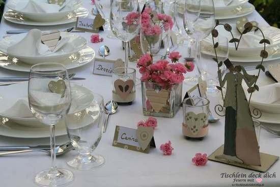 Tischdekoration Hochzeit - Tischlein deck dich