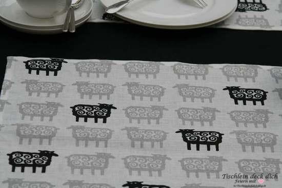 Tischset Klippan black sheep