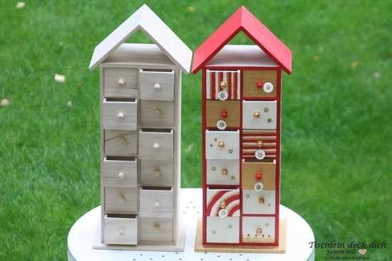 adventskalender haus zum kreativen basteln von fa rayher tischlein deck dich. Black Bedroom Furniture Sets. Home Design Ideas
