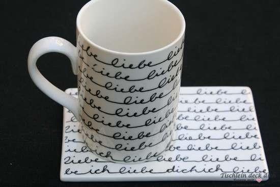 Wichtelgeschenk liebe liebe - Tasse mit Unterteller