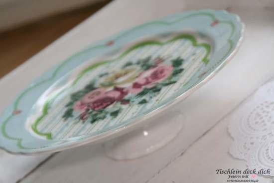 Tortenplatte Greta Gold aus Porzellan