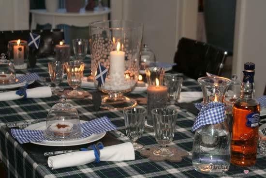 Tischdekoration Schottland schottische Tischdeko