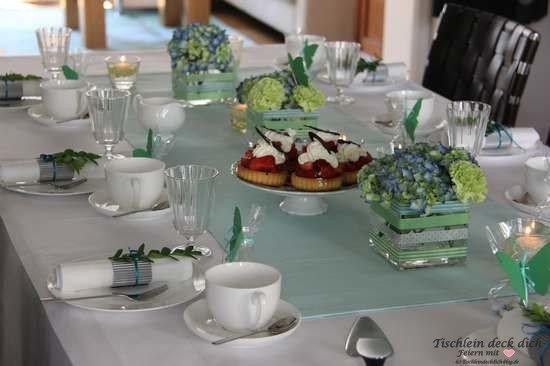 Tischdekoration sommerliche Tischdeko - Tischlein deck dich