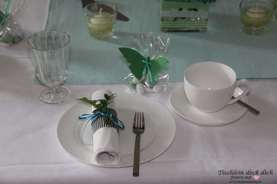Tischdekoration sommerliche tischdeko gedeck tischlein - Sommerliche tischdekoration ...