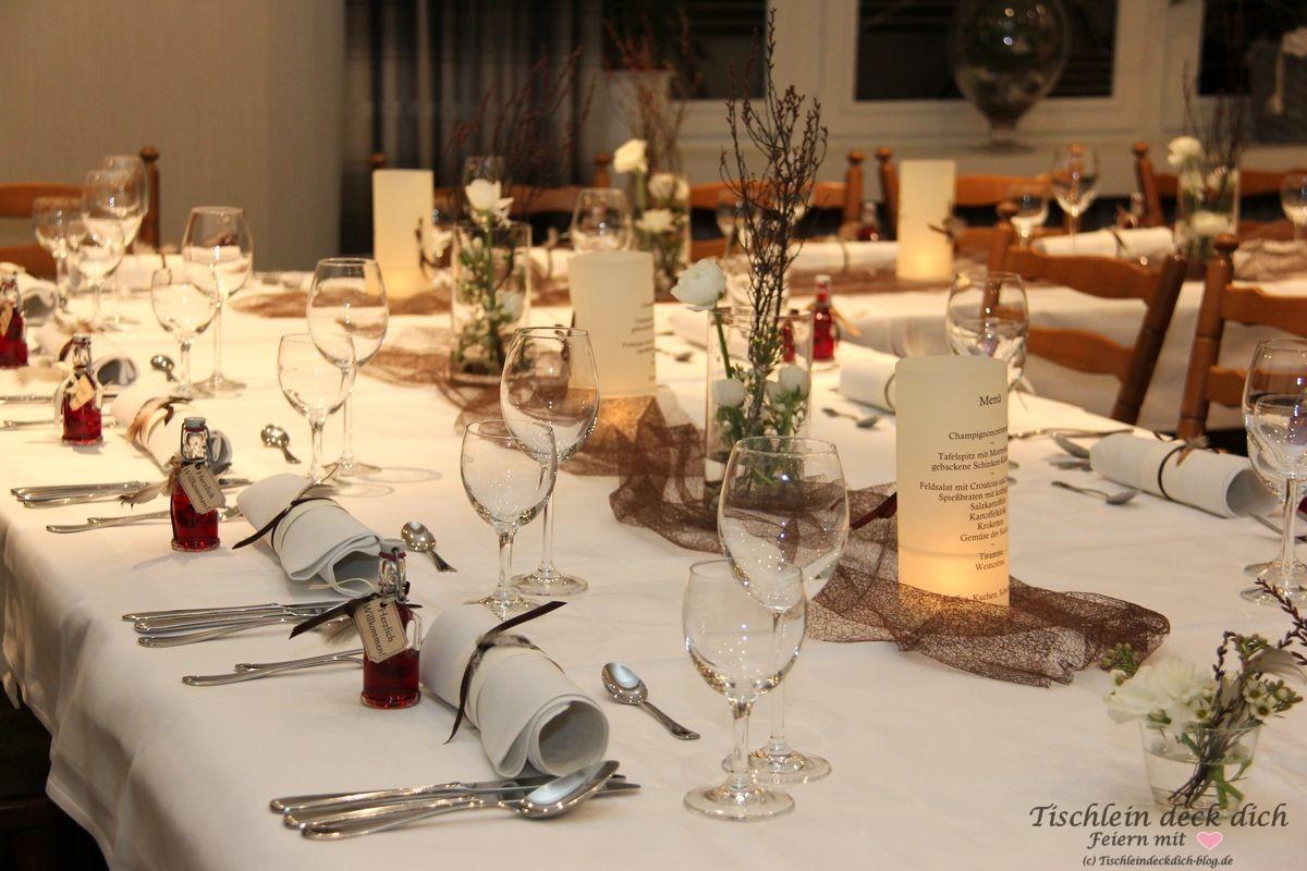 Tischdekoration zum 70. Geburtstag - Tischlein deck dich