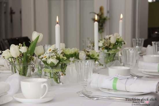 Tischdekoration Geburtstag Weiß ~ Osterbrunch Tischlein Deck Dich