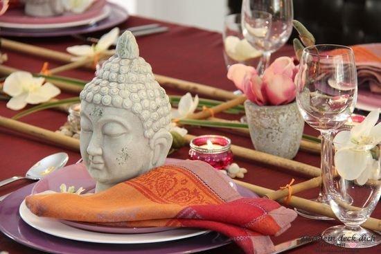 Tischdekoration Bali
