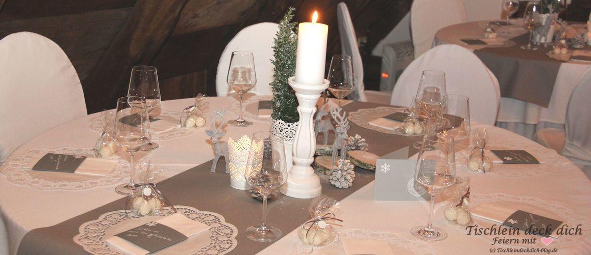 Wintermaerchen Tischdekoration Rustikal Tischlein Deck Dich