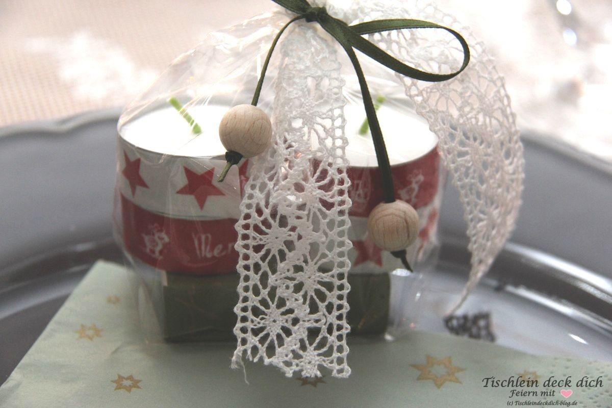 Gastgeschenk weihnachtliche Tischdekoration Washi Tape