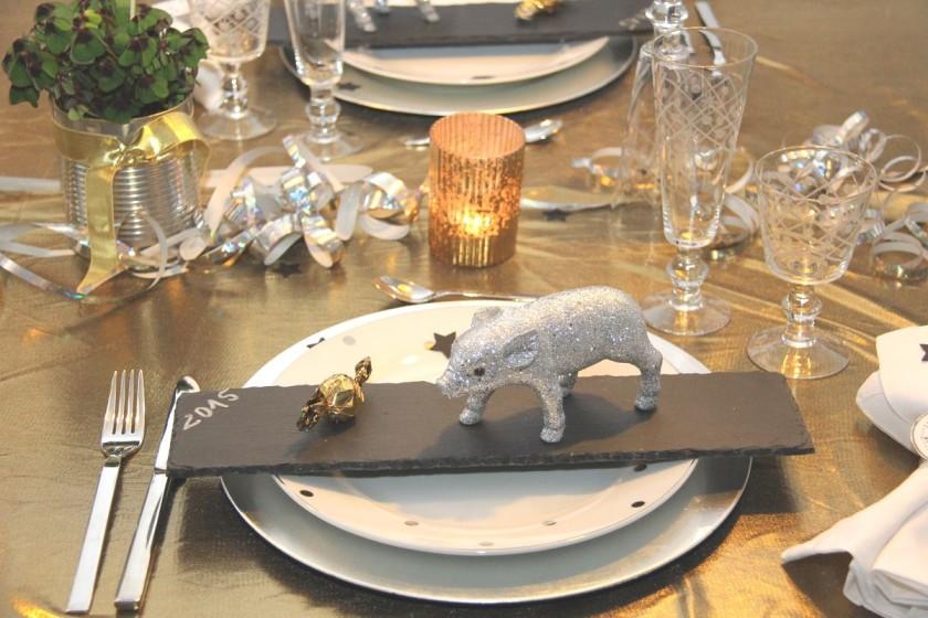 Willkommen 2015 Tischdeko Fur Den Silvesterabend Tischlein Deck Dich