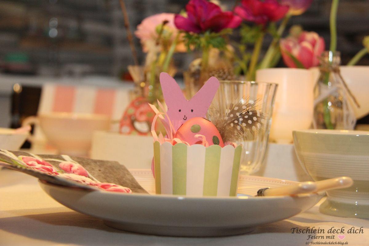Osterzeit Tischdekoration Gastgeschenk