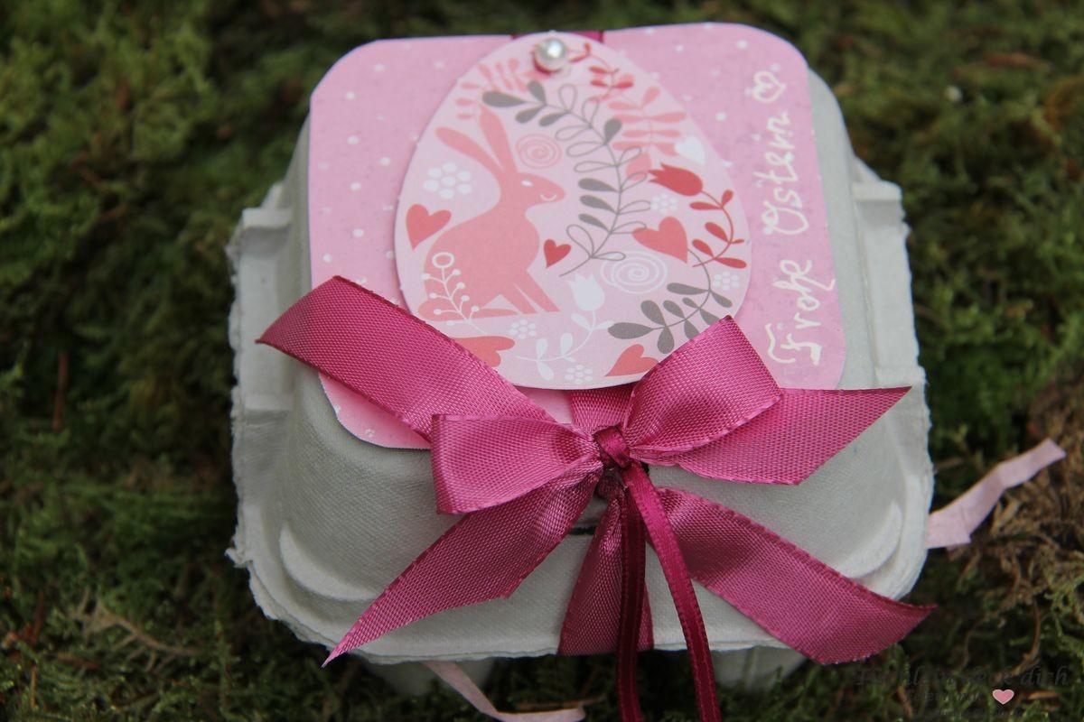 basteln mit eierkartons gastgeschenk pink rosa tischlein deck dich. Black Bedroom Furniture Sets. Home Design Ideas