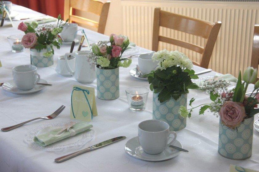 Tischdeko zum 75. Geburtstag