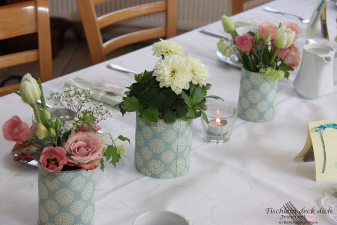 Tischdekoration 75. Geburtstag