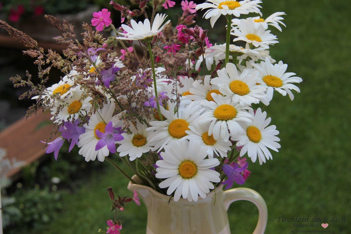 Kleiner Bilderrahmen Wiesenblumen - Tischlein deck dich