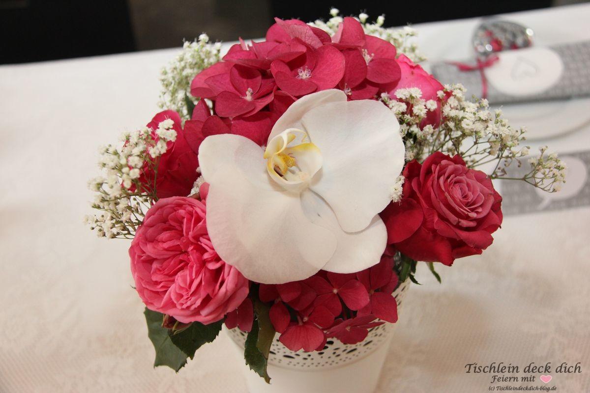 standesamtliche Hochzeit Blumenschmuck - Tischlein deck dich