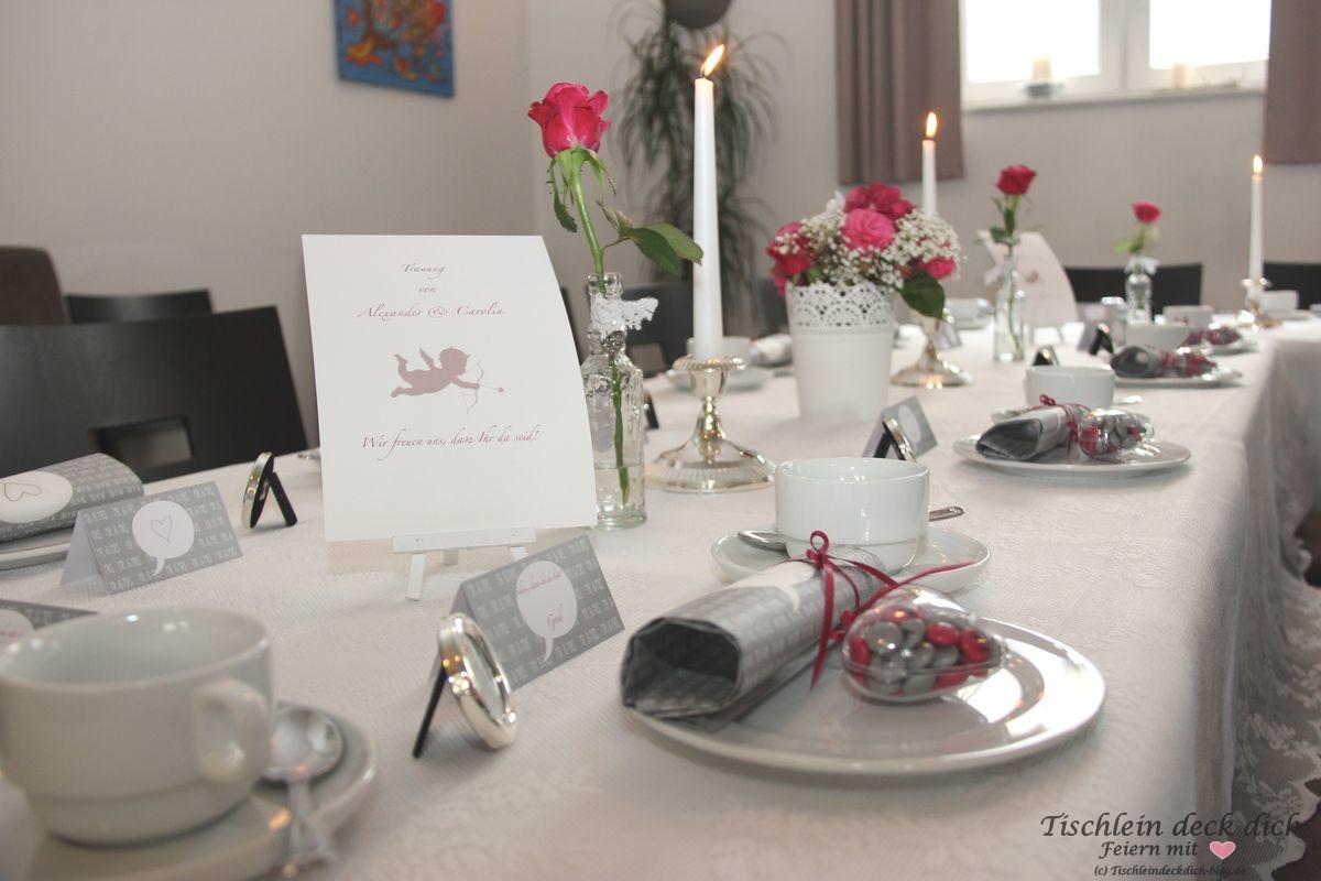 standesamtliche hochzeit tischdekoration tischlein deck dich. Black Bedroom Furniture Sets. Home Design Ideas