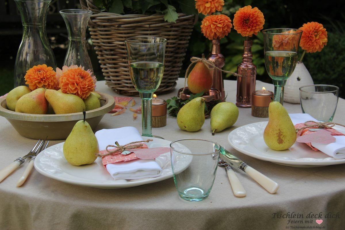 Goldener Oktober Tischdeko