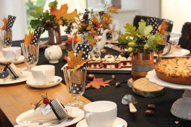 Herbstlaune Herbstliche Tischdekoration