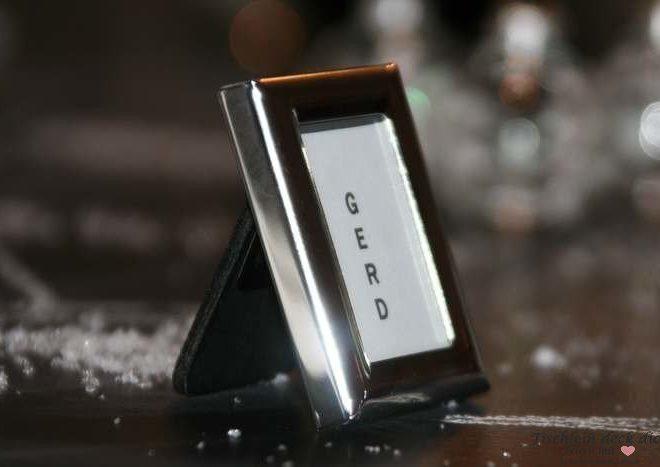 Mini Bilderrahmen klein rechteckig silber Metall