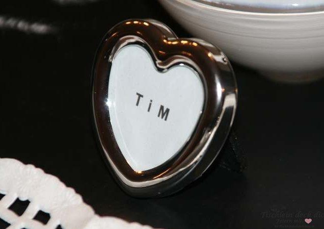 Mini Bilderrahmen klein Herz silber Metall