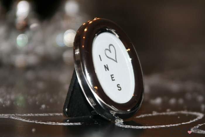 Mini Bilderrahmen klein oval silber Metall
