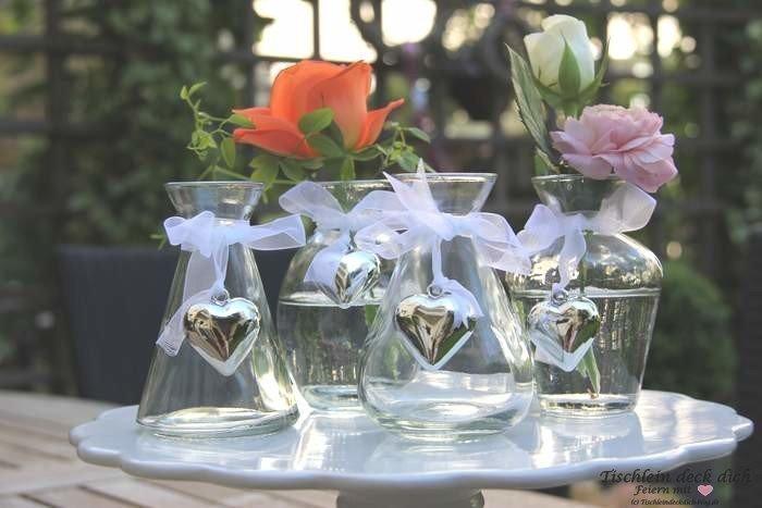 Kleine Glasvase Hochzeit