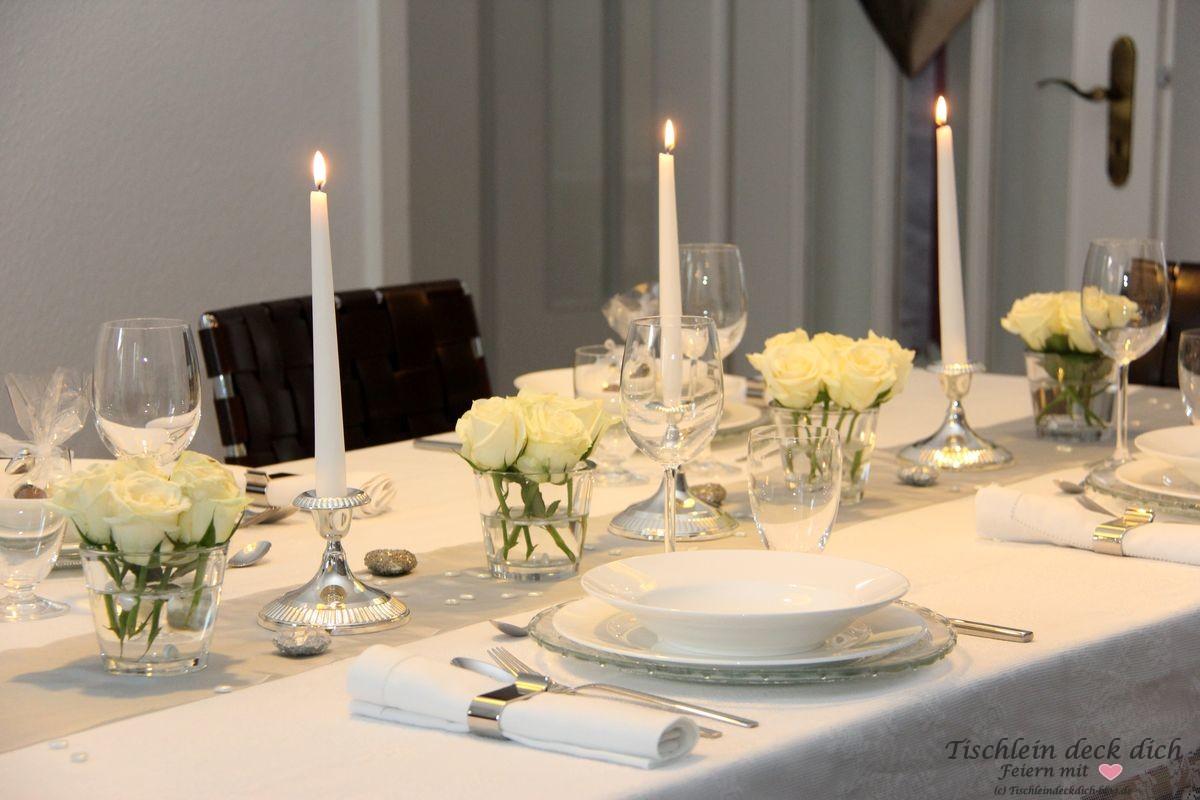 Candle Light Dinner For Four Zur Silberhochzeit Tischlein Deck Dich