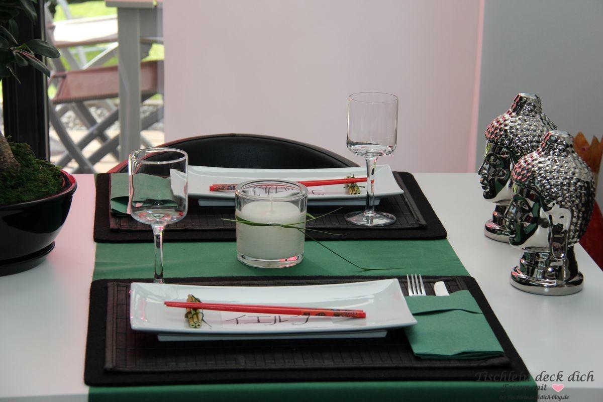 Japanische Tischdeko tischdeko tischlein deck dich
