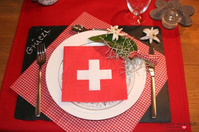 Tischdeko Schweiz Titel