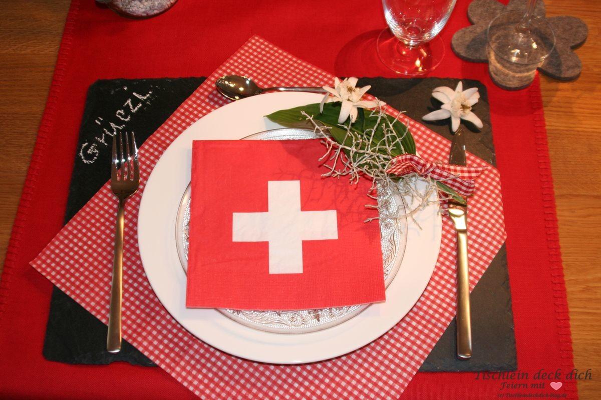 Weltreise Tischdekoration Tischdeko Schweiz