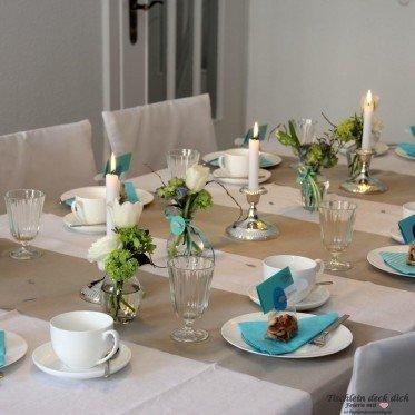 Tischdekoration Kommunion