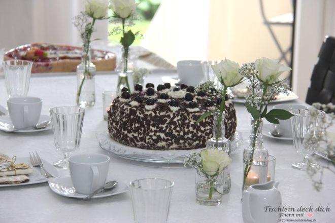 Goldhochzeit Tischdekoration Kaffee