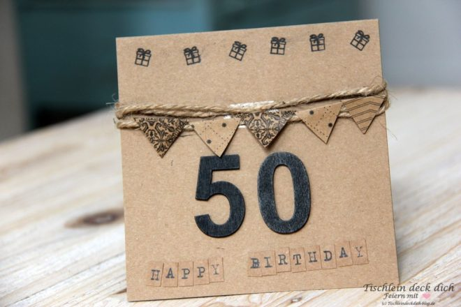 Glueckwunschkarte zum 50 Geburtstag