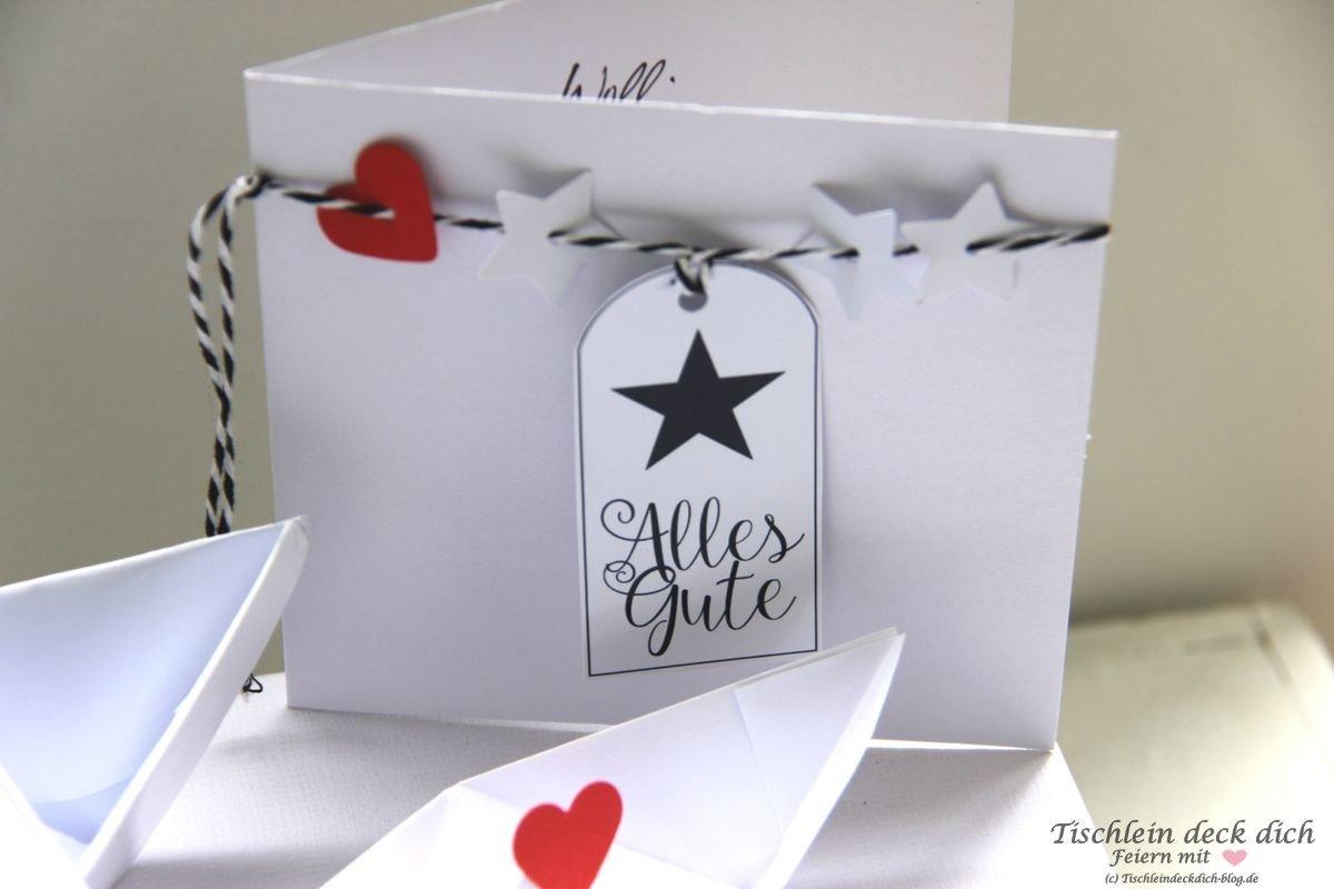 Geldgeschenk Karte Geburtstag Tischlein Deck Dich