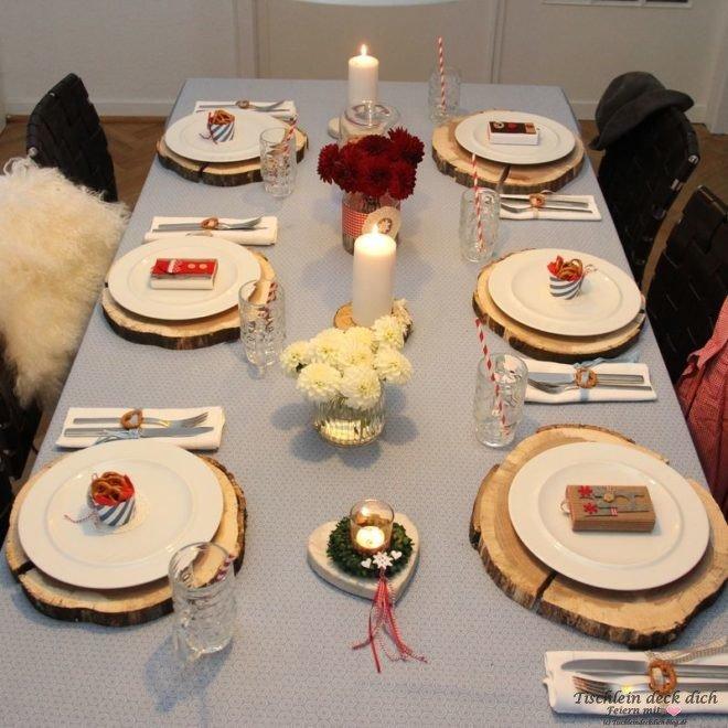 Oktoberfest Tischdekoration rustikal