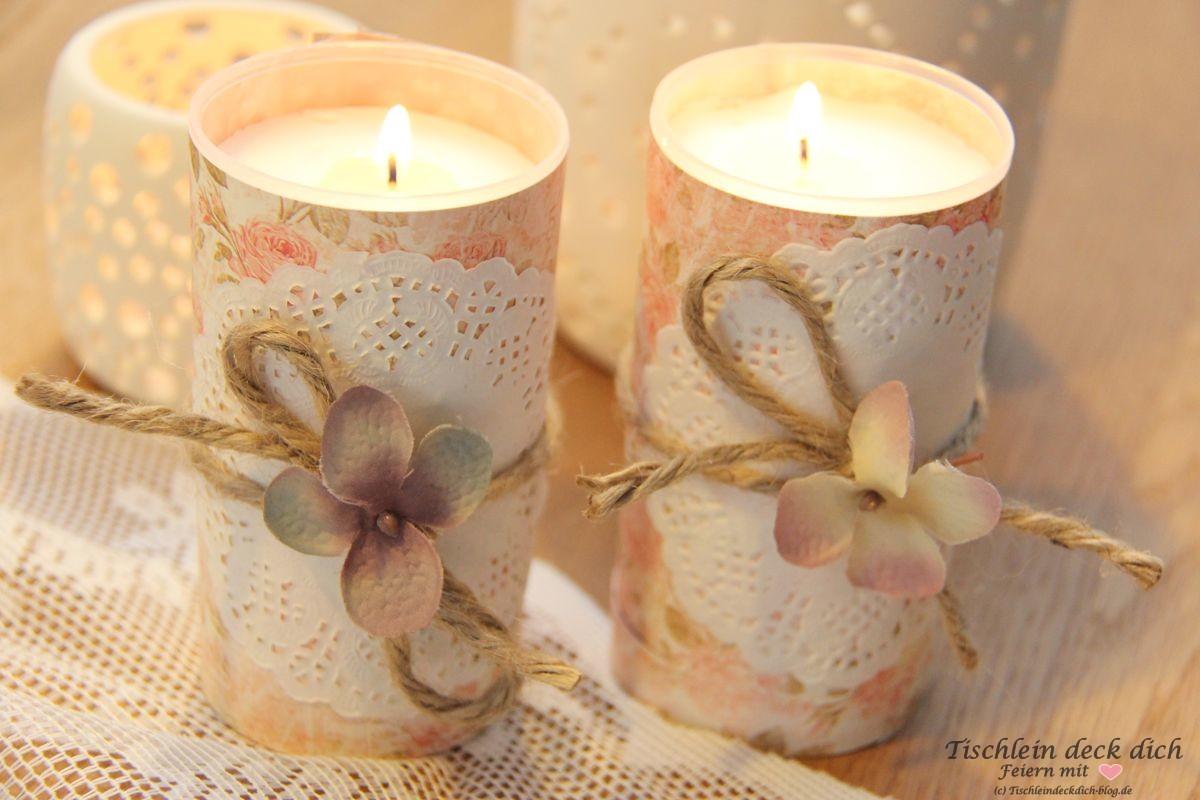 Kerzendekoration grabkerze-romantisch