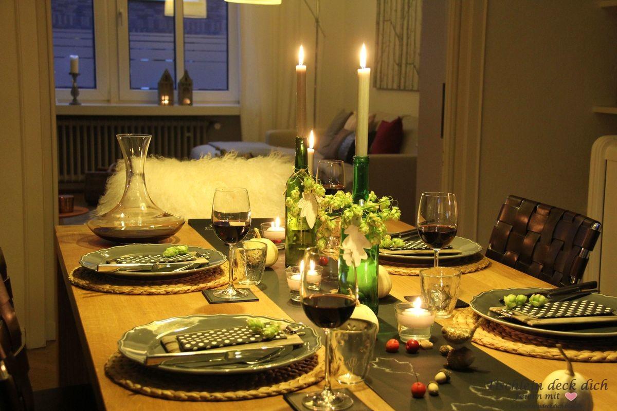 Herbst herbstliche Tischdekoration