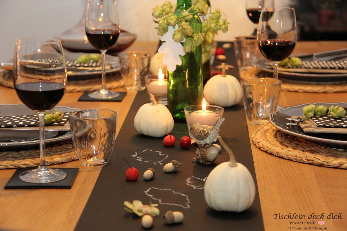 Herbst Tischdeko