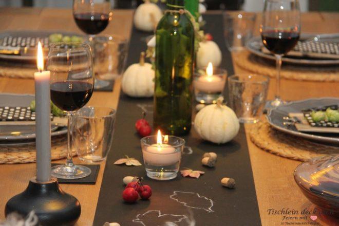 Herbst Tischdekoration
