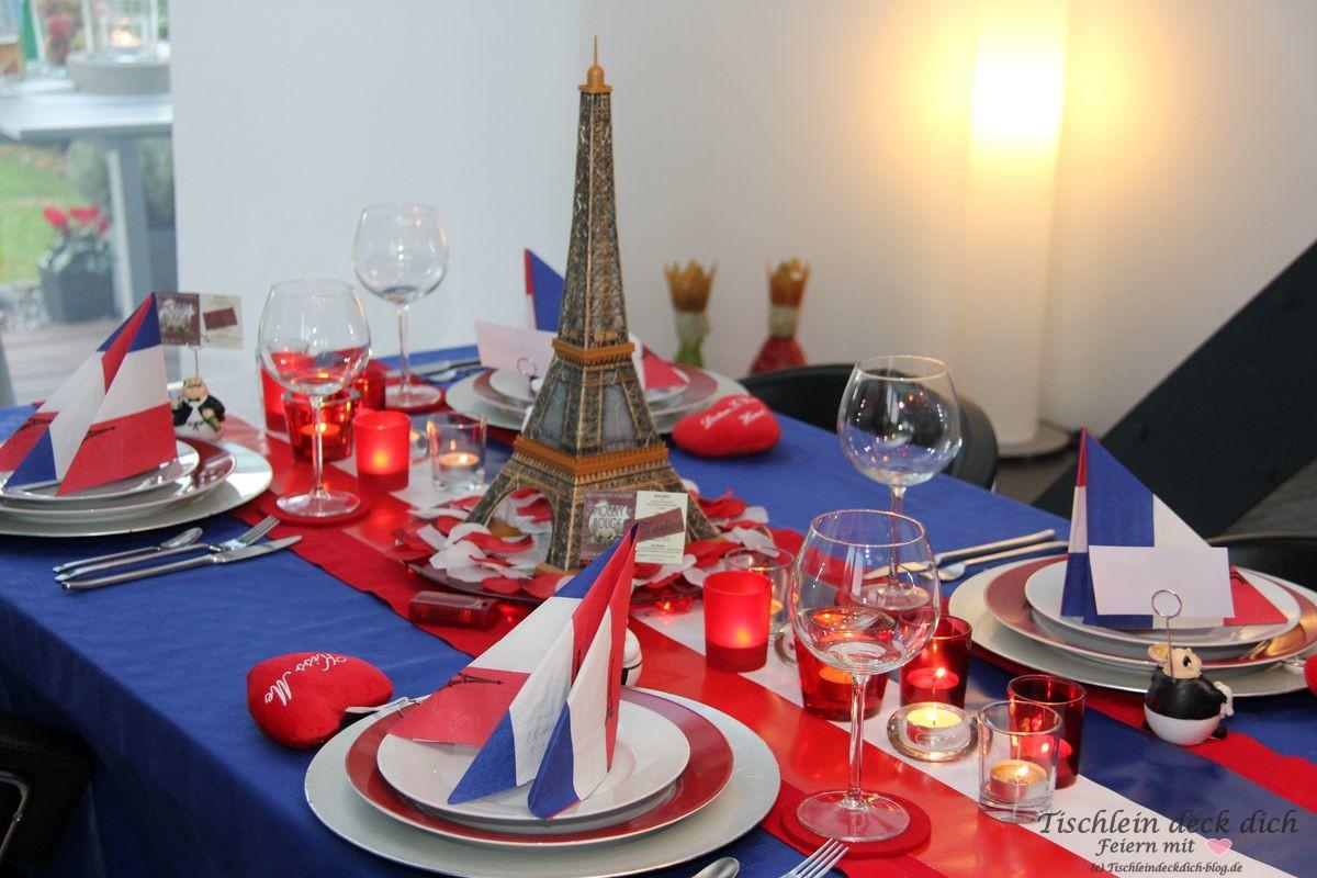 Paris tischdekoration eifelturm tischlein deck dich for Tischdeko frankreich ideen