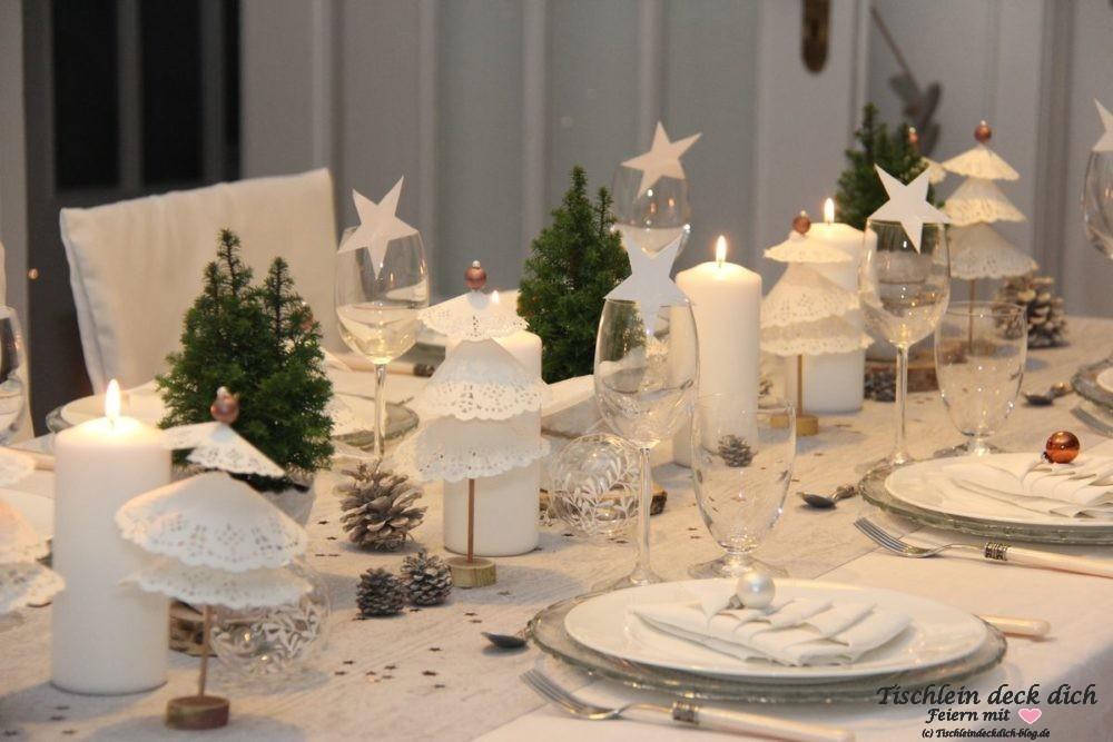 Weihnachtliche Tischdekoration vintage