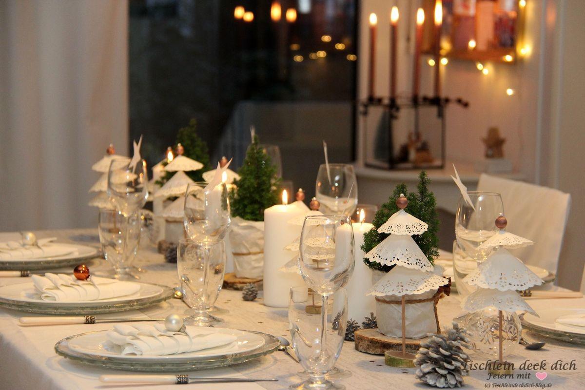 weihnachtliche tischdekoration bronze tischlein deck dich. Black Bedroom Furniture Sets. Home Design Ideas