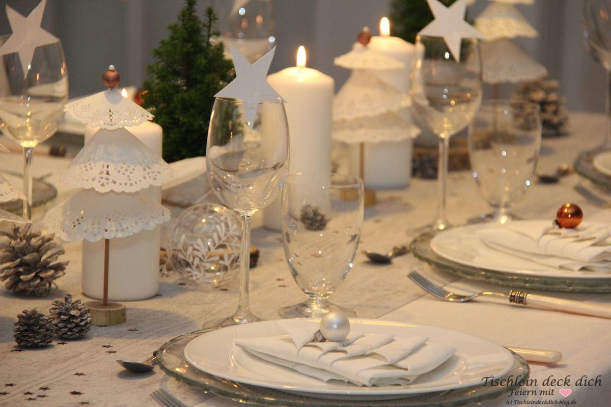 Weihnachtliche Tischdekoration rustikal - Tischlein deck dich