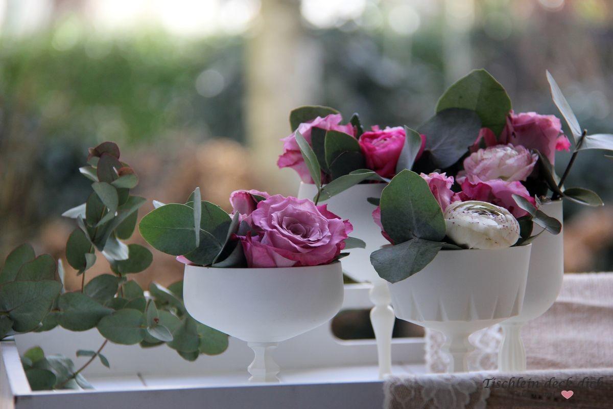 Vintage Tischdekoration Rosen