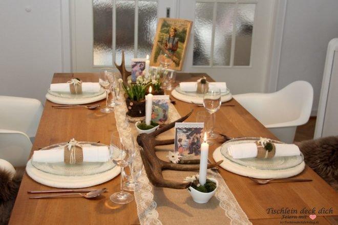 Schweizer Tischdekoration