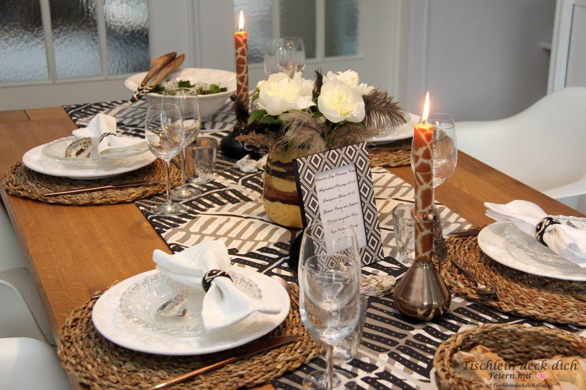eine afrikanische tischdekoration und unsere liebe zu s dafrika tischlein deck dich. Black Bedroom Furniture Sets. Home Design Ideas