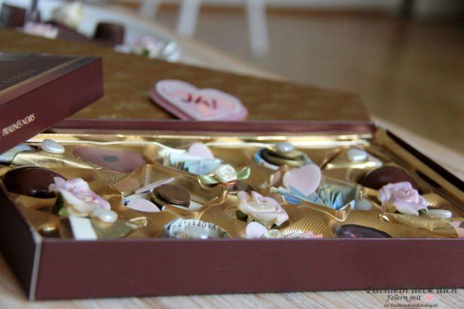 Geldgeschenk Hochzeit Pralinen Mal Anders Geniessen Tischlein