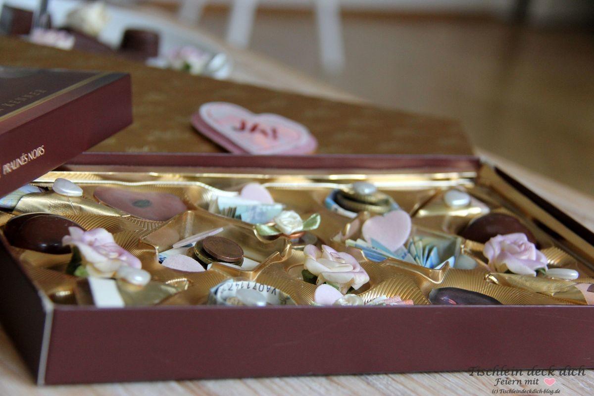 Geldgeschenk Hochzeit Pralinenkasten